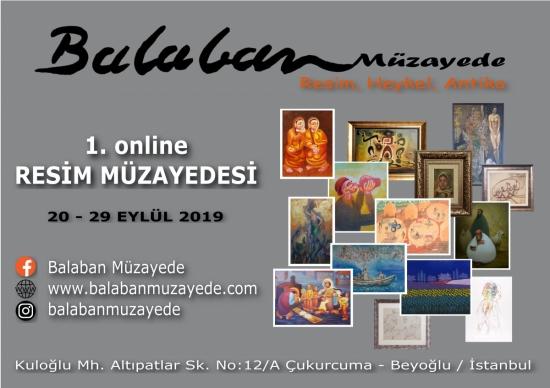 1. Online Resim Müzayedesi